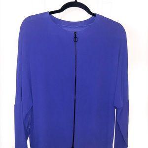 Zara | Royal Blue Zipper Back Long Sleeve